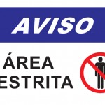 Área Restrita - placa-ps-2mm-40-x-60-cm
