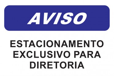 aviso-estacionamento-exclusivo