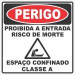 Proibida a Entrada Risco de Morte - adesivo-15-x-20-cm