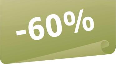 Vitrine - -60%  Desconto