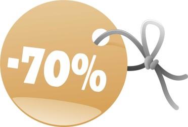 Vitrine - -70%  Desconto