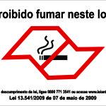 Proibido Fumar Neste Local Lei - adesivo-15-x-20-cm